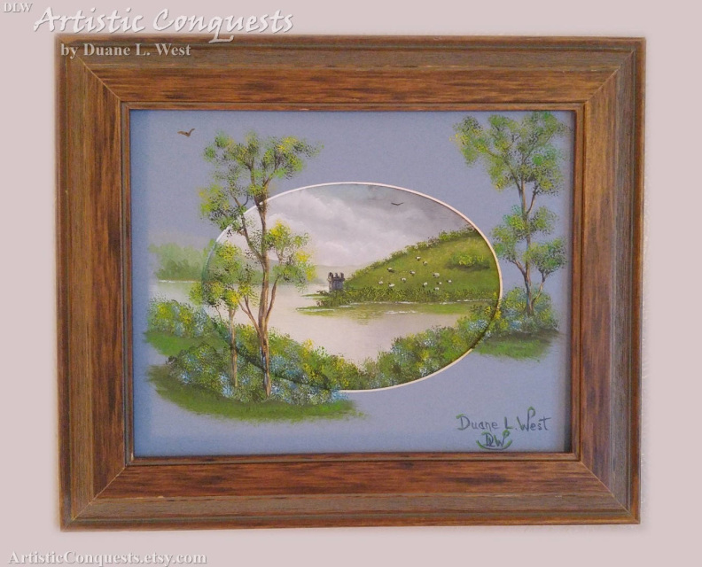 Original Oil Painting Of Urquhart Castle Loch Ness