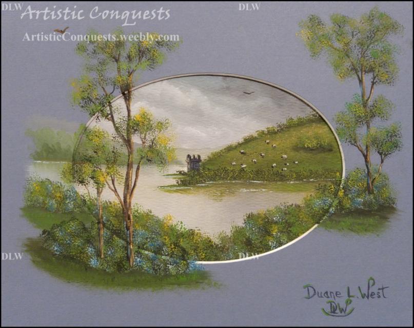 Original Oil Painting Of Urquhart Castle Loch Ness