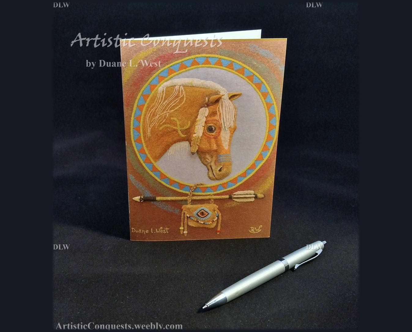 Greeting Card Horse Native American Animal Spirit Medicine Wheel