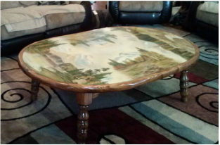 Painted Table top by Duane West